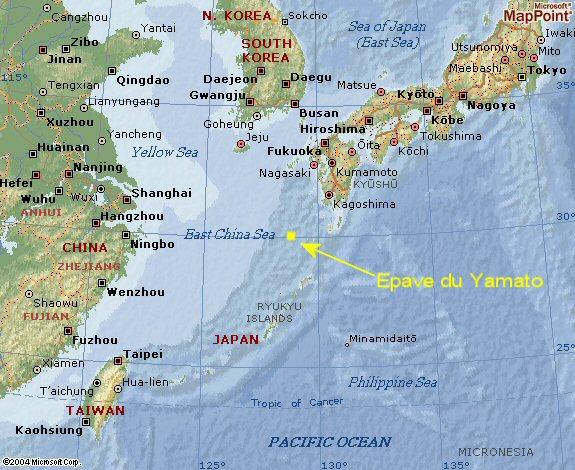 Position du Yamato