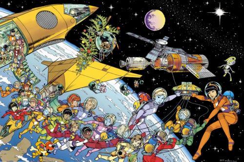Montage de Yoko et Khany dans l'espace
