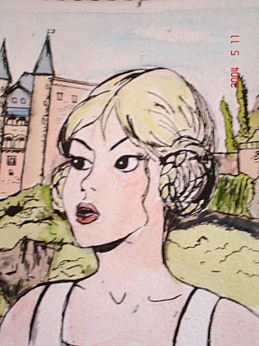 Ingrid dans L'orgue du diable (Dessin Miss Soja)