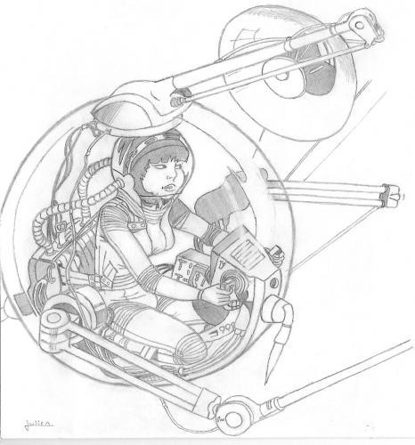 Yoko dans la Sphère (Dessin de julien)