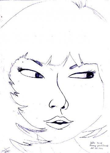 Yoko dans le Message pour l'Eternité (Dessin de Tin Hau)