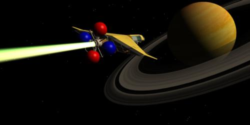 La Navette Spaciale arrivant vers Saturne