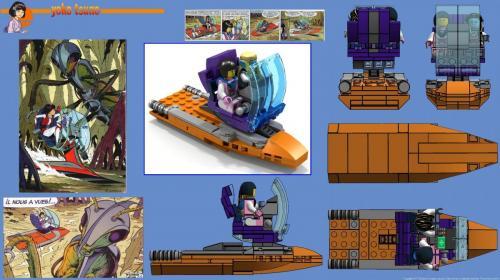 Le Patrouilleur nautique en Lego - Les titans