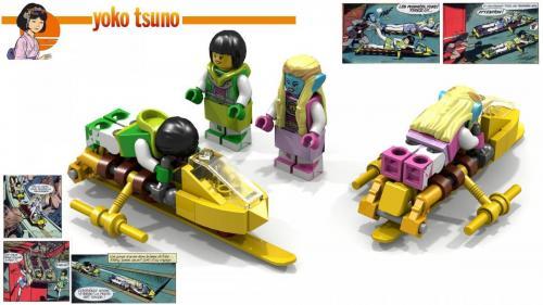 le Traîneaux de sauvetage en Lego - La forge de Vulcain