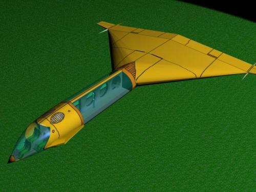 Navette réalisée avec 3D studio max