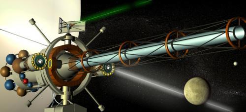 Le satellite avec Saturne et Titan