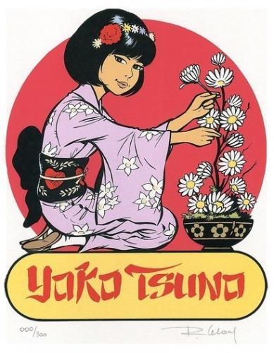 Yoko en kimono