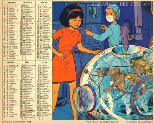 Almanach 1984 des PTT Recto