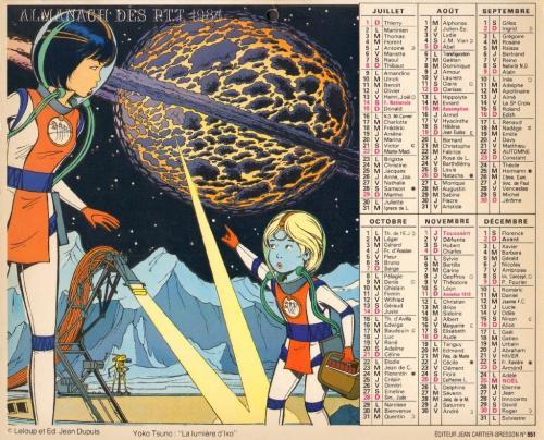 Almanach 1984 des PTT Verso