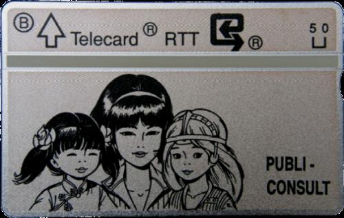 Carte téléphonique RTT Grise