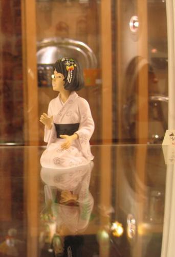 Figurine Yoko Tsuno peinte.