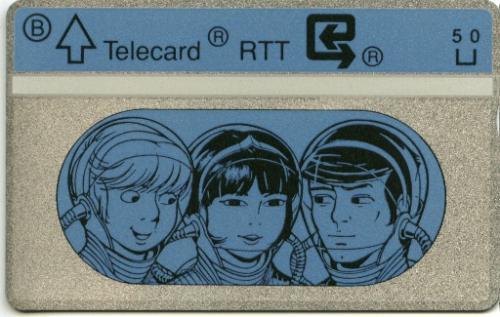 Carte téléphonique RTT bleue